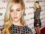 Nicola Peltz makes a bold fashion statement in patterned Louis Vuitton ensemble featuring a leather skirt premiere of Affluenza