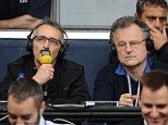 Stepping down: Mike Ingham (right), the voice of BBC radio commentaries for over 30 years, is set to hang up his microphone after this Sunday's World Cup final between Germany and Argentina at the Maracana