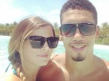 Soak up the sun: Chris Smalling poses with girlfriend Sam Cooke while on holiday after the World Cup
