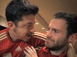 Back off: Spanish midfielder Juan Mata is taken aback by the interview with Christopher Mintz-Plasse