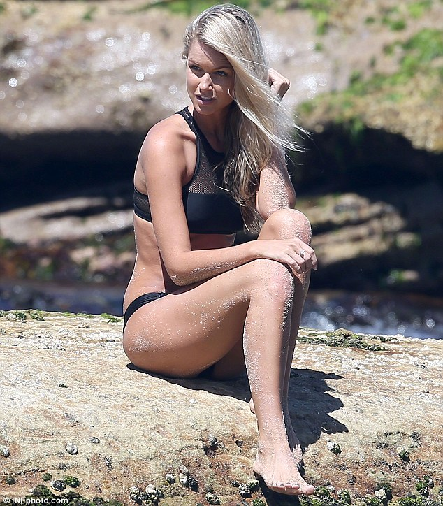 Stunner: Former Miss Universe Australia Renae Ayris says it was only two years into her professional career as a model and beauty queen that she began to feel completely comfortable in her own skin