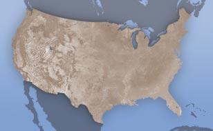 United States weather doppler radar map
