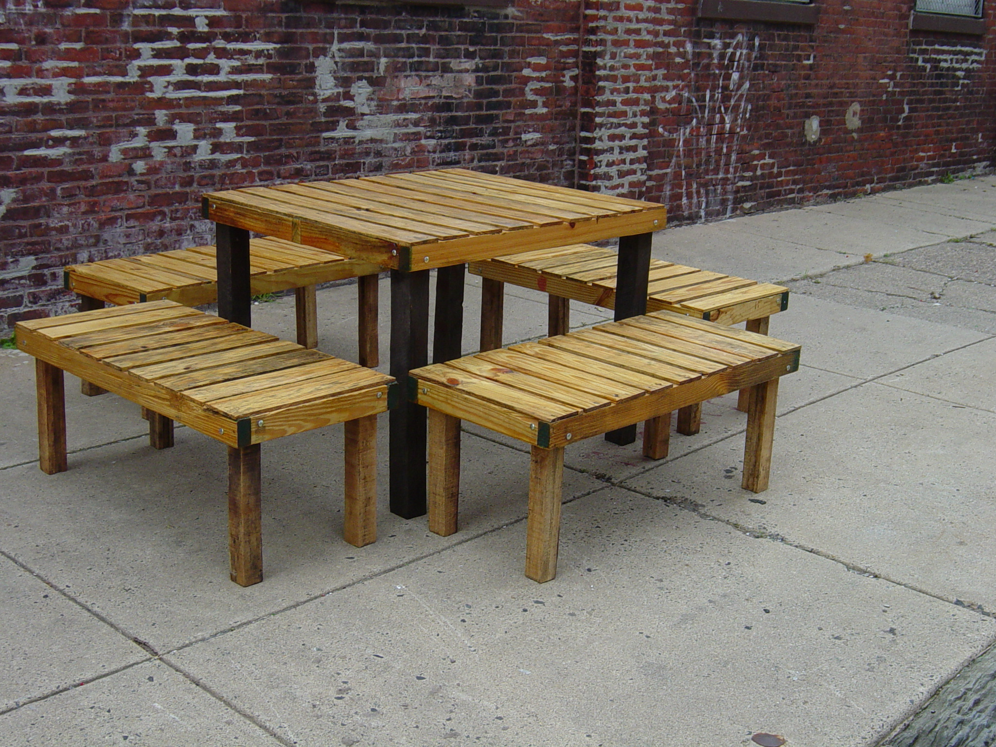 Rustic Wooden Picnic Tables Wood Benches Indoor Outdoor Sales ...