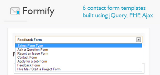Open Source jQuery PHP Ajax Contact Form Templates With Captcha Formify