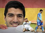 New challenge: One viral mocked Luis Suarez's for biting opponents - which he has done three times before