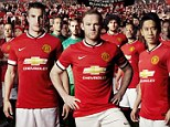 New look: Manchester United have revealed their home strip for the upcoming campaign