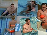 Wayne Rooney and Coleen kick back by the pool in Las Vegas while Man United team-mates face gruelling training sessions