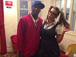 Back to school: Emile Heskey and his wife Chantelle dress up in uniform for a party