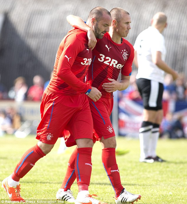 Reunited: Kris Boyd is back at Rangers too and will look to forge a potent strike pairing with Miller