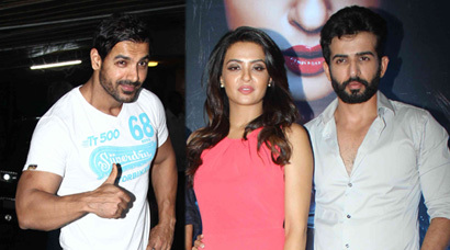 Spotted: John enjoys movie night, Jay, Surveen promote 'Hate Story 2'