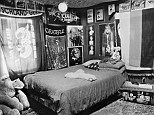 Rare glimpse: Each room in Gilbertson's collection is a window on the life of the soldier who once occupied it, among them Army Spc. Ryan Yurchison's childhood room in Middletown, Ohio, with an American flag shaped into a triangle sitting on his bed