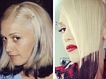 Back in the day: Gwen shared this image of her rocking a similar hairdo years ago