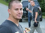 Under her spell! Devoted husband Channing Tatum enjoys a hike in Vancouver as wife Jenna Dewan shoots Witches Of East End
