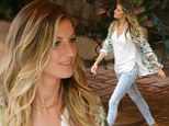 Famous face: Gisele Bundchen was spotted on the set of a commercial shoot on Thursday in Miami, Florida