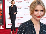 Why so shy? Cameron Diaz covers up in silk black jumpsuit at premiere of her raunchy movie Sex Tape
