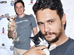 Paws for thought! James Franco and Zach Braff make some new furry friends at Broadway Barks animal adoption event