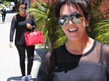 Kris Jenner heads to lunch in all-black... as Keeping Up With The Kardashians clip shows her clashing with Khloe over Lamar's behaviour