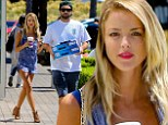Brody Jenner's model girlfriend Kaitlynn Carter shows off her seemingly endless legs in denim dungarees while out with her beau
