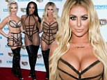 They're Show Stoppers! Danity Kane perform new numbers in racy bondage-style outfits and thigh-high black leather boots