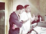 Burying the hatchet? Chris Brown and Drake pictured in the recording studio together following years long feud