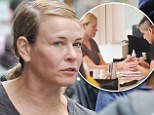 Pampering: Chelsea Handler treated herself to a manicure ahead of her comedy show at the Olympia Theatre in Dublin, Ireland on Friday