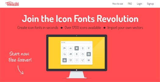 Create Icon Fonts in Seconds - Fontastic