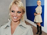 Art lover Pamela Anderson attends the Joe Goode Flat Screen Nature exhibition in Los Angeles in the week she announced that she is divorcing Rick Salomon for the second time