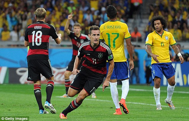 Champions elect: The Germans played some scintillating football to beat hosts Brazil in the semi-final