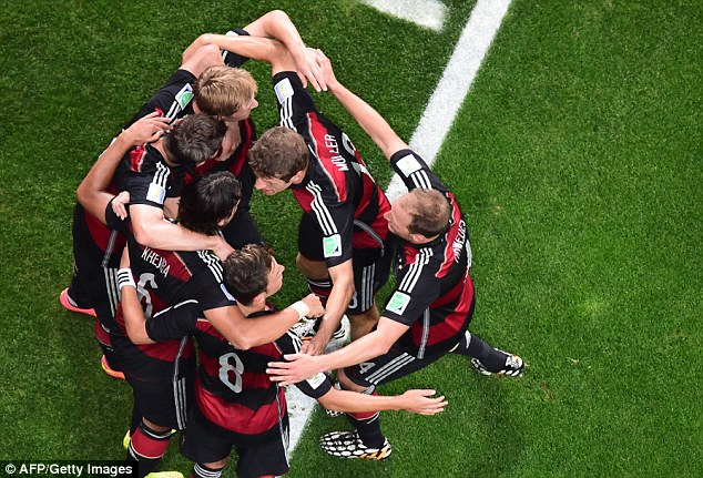 Together: The German performances and team spirit has drawn support from English fans