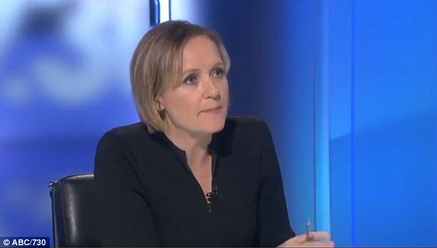 Host Sarah Ferguson couldn't get a word in as Palmer spoke over the top of her before storming out