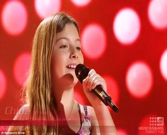 Music career: Another bright spark on The Voice Kids' stage on Sunday night was 11-year-old Chloe, who first earned her performance chops playing Kate Ritchie's daughter Pippa on Home And Away