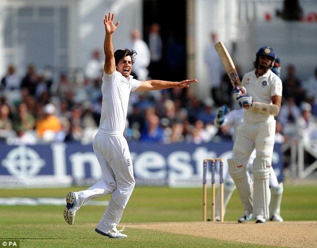 Happy ending: The excitement was palpable as the England captain picked up a wicket