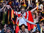 Kings of the world: German fans explode into jubilation as the national team scores