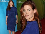 Chic in cobalt: Debra Messing looked lovely in a fitted blue dress as she attended NBC's TCA in Beverly Hills, California on Sunday