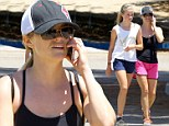 She's catching up! Reese Withersoon's daughter Ava, 14, is nearly the same height as her petite mom as they go for a hike