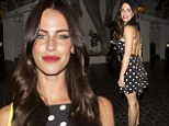 Spot on! 90210 star Jessica Lowndes puts on a leggy display in a pretty polka dot mini-dress while out and about in LA