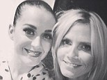 Kitty kat! Heidi Klum shared a picture with Katy Perry from her concert Wednesday night