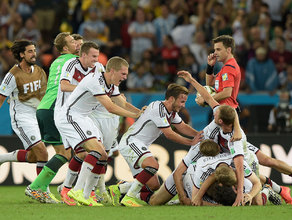 Mario Götze scored an extra-time winner as Germany beat Argentina 1-0 to become the first European team to win a World Cup held in South America.