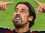 On target: Khedira got his name on the scoresheet during Germany's semi-final win against Brazil