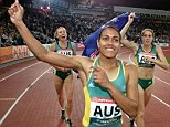 Nation's sweetheart: Cathy Freeman did Australia proud with her multiple gold medals in Olympic and Commonwealth Games