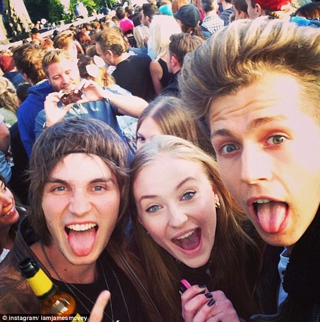 Dating game: Sophie and James (far right) have enjoyed a number of dates together, including British Summer Time bash