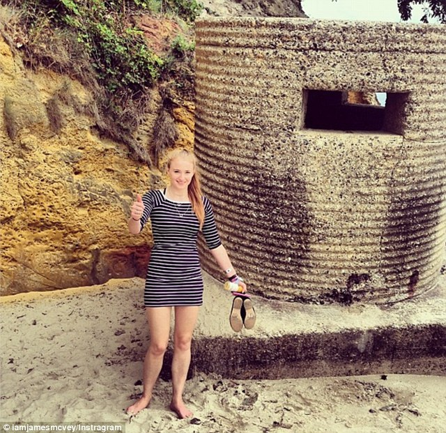 Queen of the castle: Sophie looked super happy on their beachy date