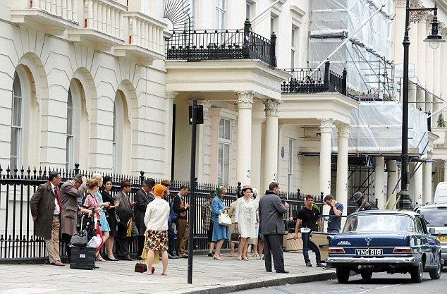 West End: The shoot was taking place in Belgravia rather than the Krays haunt of East London, however the crime bosses were often in the area because of the night clubs they owned nearby