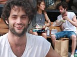 Gossip Girl's Penn Badgley and Jemima Kirke's sister Domino grab lunch on-the-go amid reports the two are 'dating'