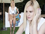 Sizzling: Rumer Willis showed off her shapely legs in a slit zip-up leather skirt paired with kinky thigh-high gladiator sandals at the Just Jared Summer Fiesta at Pink Taco in West Hollywood on Saturday