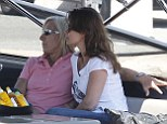 Relaxing: The couple, who met in 2012, are still going strong - no doubt thanks to luxury holidays