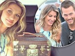 Gisele Bundchen arrived to the World Cup final match with Tom Brady, where she is unveiling the trophy in its customised Louis Vuitton case