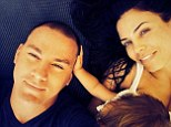 Family: Channing Tatum Instagrammed this photo with wife Jenna Dewan and daughter Everly on Saturday, writing, 'Another year of love and light..couldn't ask for anything more. Thanks everyone for the anniversary wishes!'
