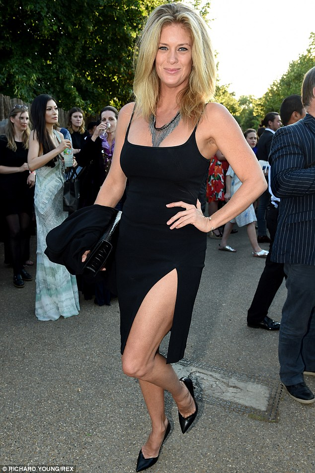 Leggy blonde: Hunter, pictured at the Serpentine Summer Party in Hyde Park, London, on July 1, used the stormy weather to her advantage on shoot in her native New Zealand
