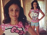 Bethenny Frankel squeezes into he daughter Bryn's pajamas